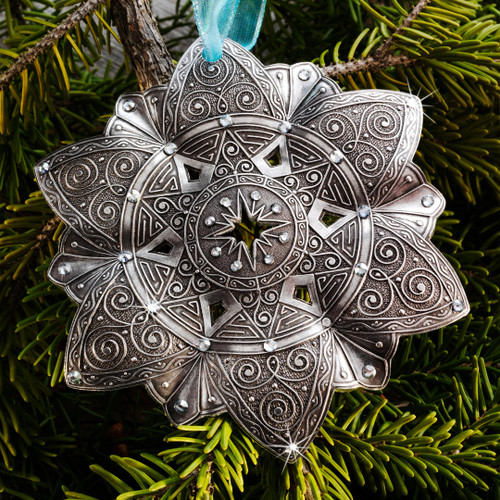 Snow Crystal North Star Ornament Aluminum Wendell August