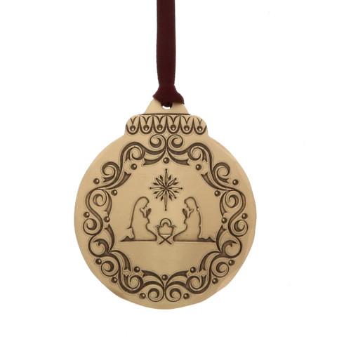 Vintage Nativity Ornament Bronze Wendell August