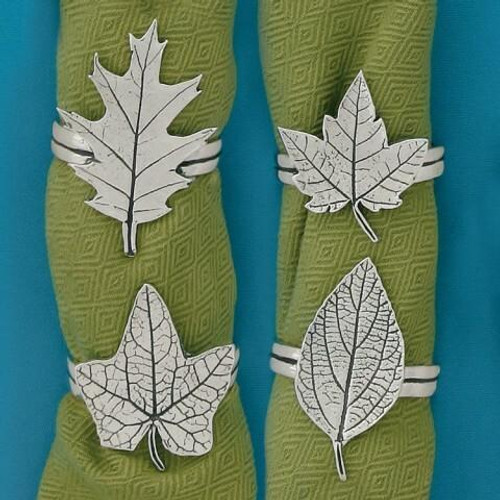 Assorted Leaves Napkin Rings Wendell August