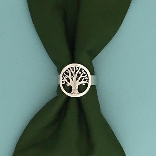 Tree of Life Napkin Ring Set Wendell August