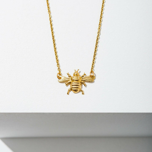 Mini Bee Necklace-Brass Wendell August
