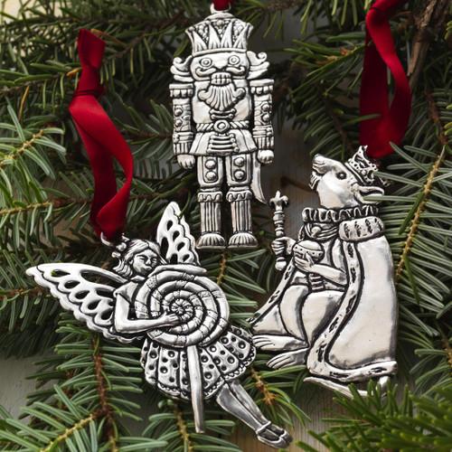 Nutcracker 3-Piece Ornament Set Wendell August