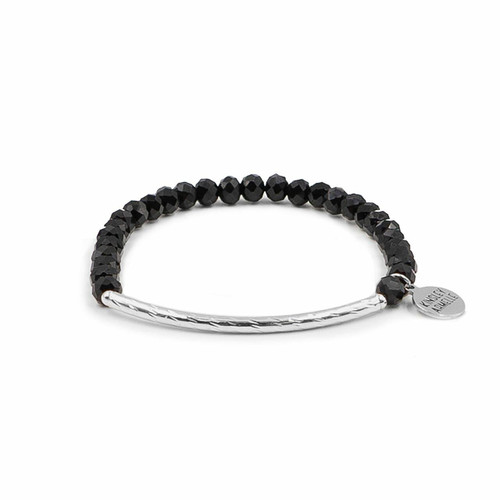 Glory Collection- Coal Bracelet Black Silver Wendell August