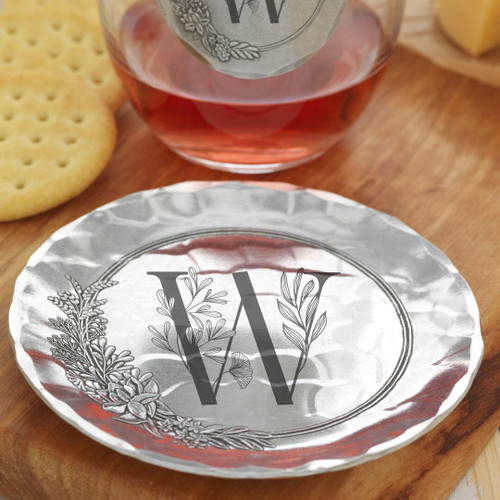 Floral Monogram Initial Coaster Wendell August