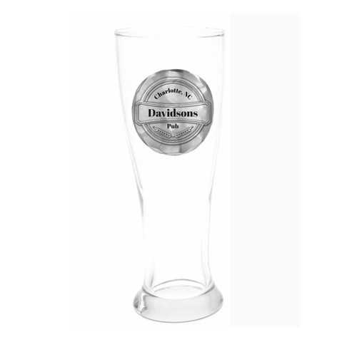 Personalized Pub Pilsner Glass Wendell August