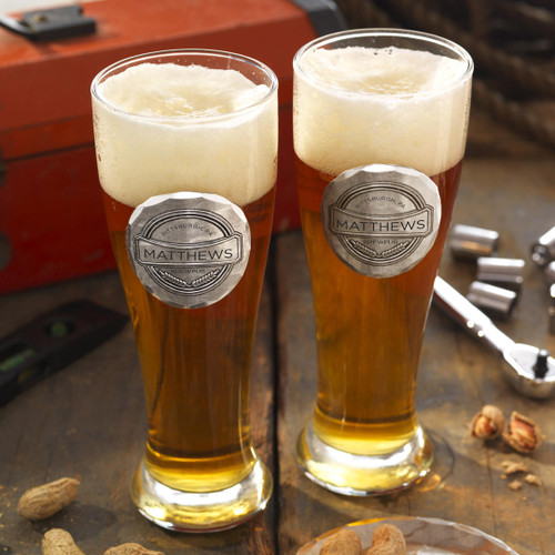 Personalized Pub 2-Piece Pilsner Set Wendell August