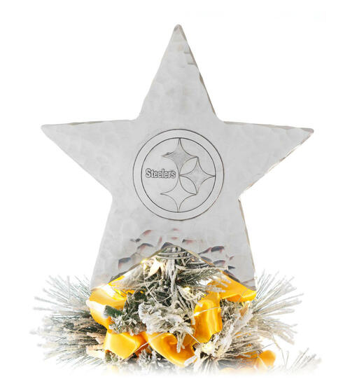Pittsburgh Steelers Star Tree Topper Aluminum Wendell August