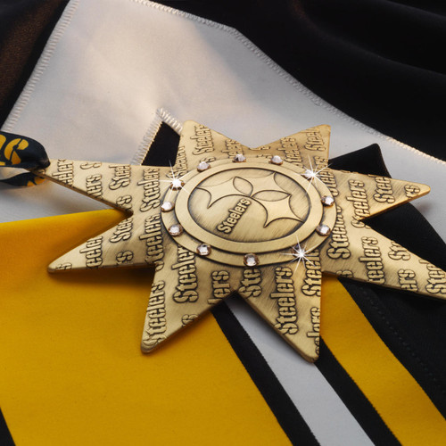 Pittsburgh Steelers 2021 Collectors Ornament Bronze Wendell August