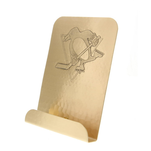 Pittsburgh Penguins Logo Tablet and Cookbook Holder Bronze Wendell August