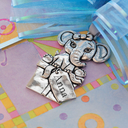 Elephant Baby Ornament Wendell August