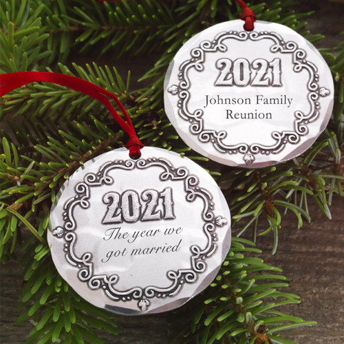 2021 Personalized Chalkboard Ornament Wendell August
