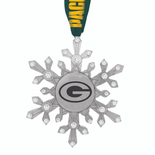 Green Bay Packers Snowflake Collectible Ornament Wendell August