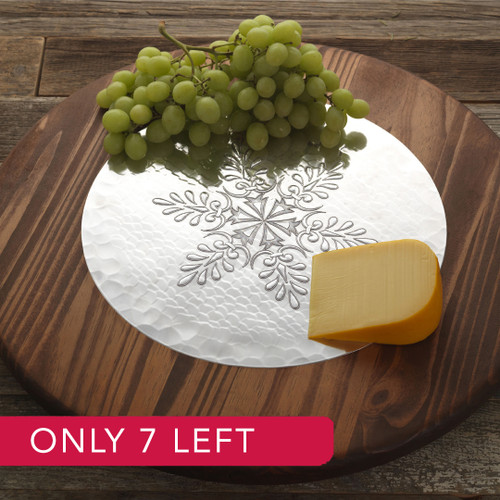 Limited Edition Snowflake Lazy Susan