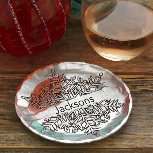 Personalized Snowflake Coaster Wendell August