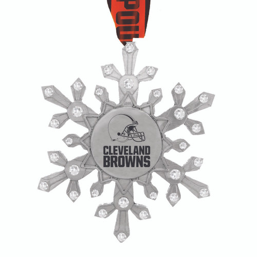 Cleveland Browns Snowflake Collectible Ornament Wendell August