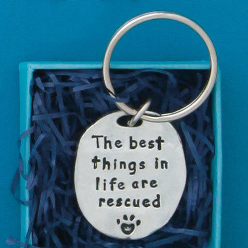 Best Things are Rescued Keychain Wendell August