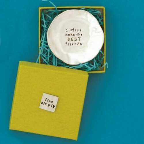 Sisters Make the Best Friends Large Charm Bowl Wendell August