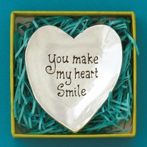 Heart Smile Large Charm Bowl Wendell August