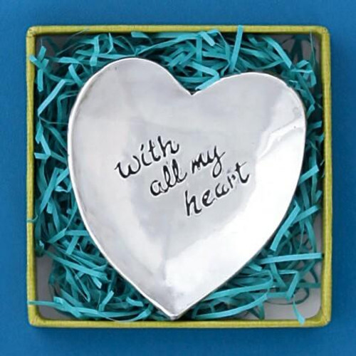 With All My Heart Large Charm Bowl Wendell August