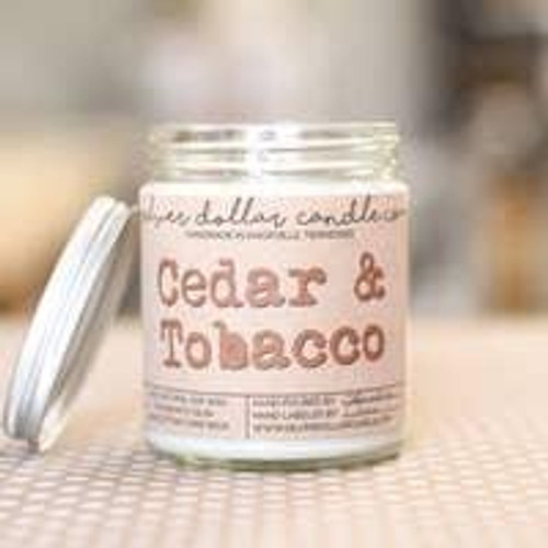 Cedar and Tobacco Soy Candle Wendell August