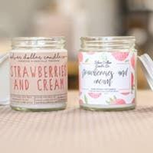 Strawberries and Cream Soy Candle Wendell August