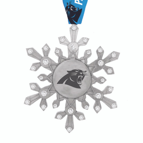 Carolina Panthers Snowflake Collectible Ornament Wendell August