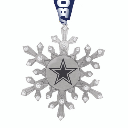 Dallas Cowboys Snowflake Collectible Ornament Wendell August