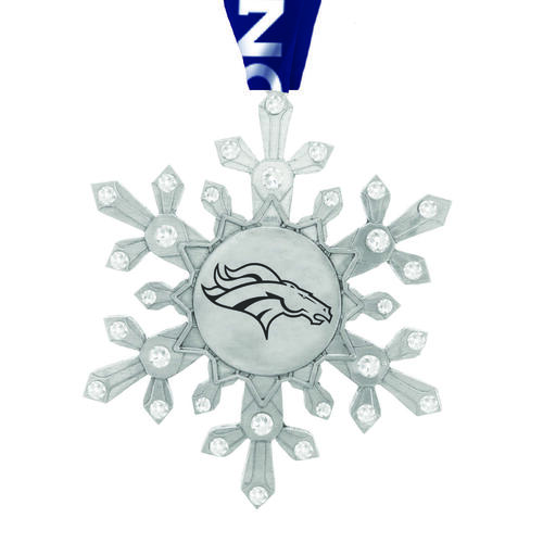 Denver Broncos Snowflake Collectible Ornament Wendell August