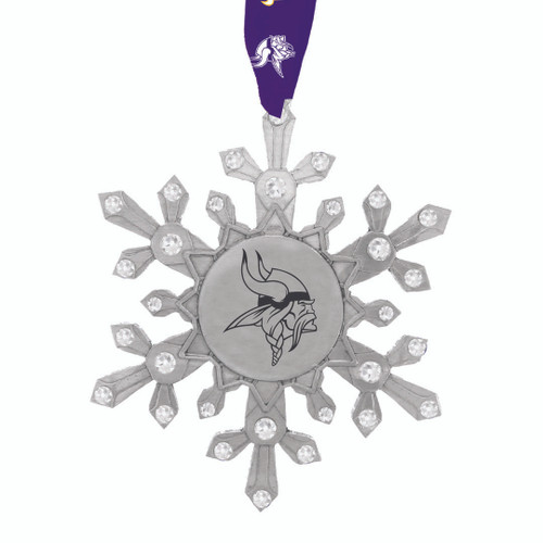 Minnesota Vikings Snowflake Collectible Ornament Wendell August
