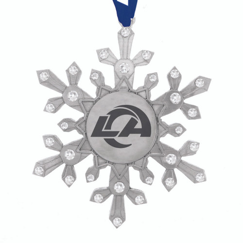 Los Angeles Rams Snowflake Collectible Ornament Wendell August