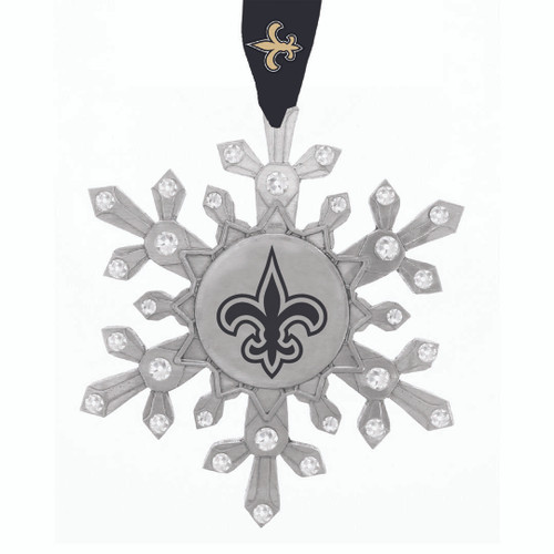 New Orleans Saints Snowflake Collectible Ornament Wendell August