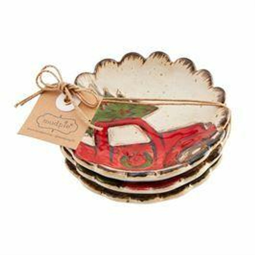 Vintage Truck Farmhouse Dipping Dish 3-Piece Set Wendell August