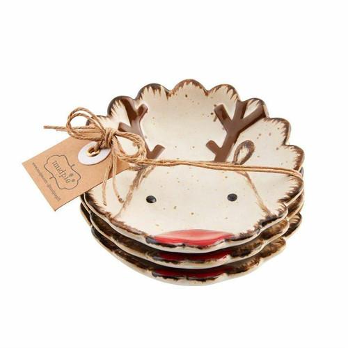 Reindeer Farmhouse Dipping Dish 3-Piece Set Wendell August