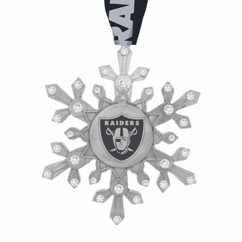 Las Vegas Raiders Snowflake Collectible Ornament Wendell August