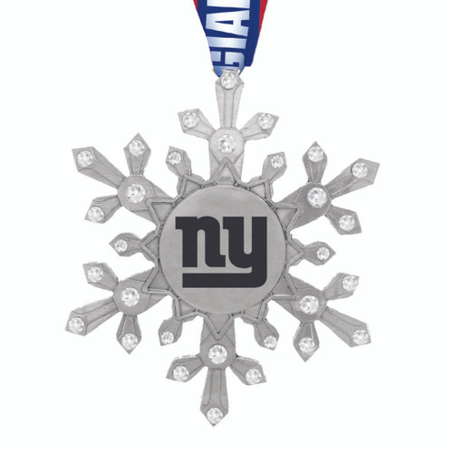 New York Giants Snowflake Collectible Ornament Wendell August
