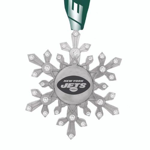 New York Jets Snowflake Collectible Ornament Wendell August