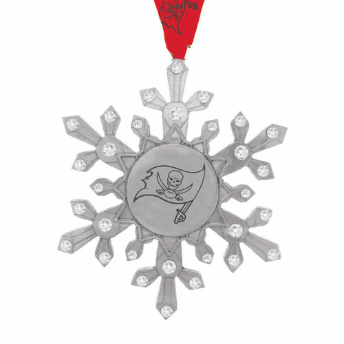 Tampa Bay Buccaneers Snowflake Collectible Ornament Wendell August