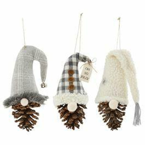 Sherpa Pinecone Gnome Ornament Wendell August
