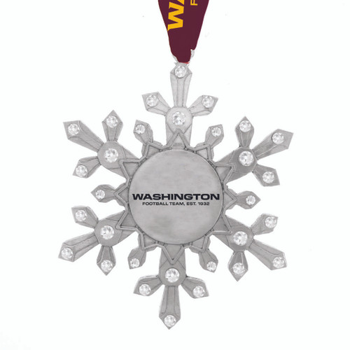 Washington Football Team Snowflake Collectible Ornament Wendell August