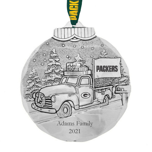 Green Bay Packers Tailgating Ornament Aluminum Wendell August