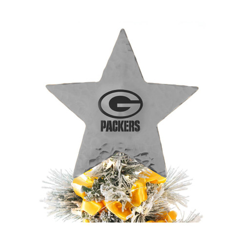 Green Bay Packers Star Tree Topper Aluminum Wendell August