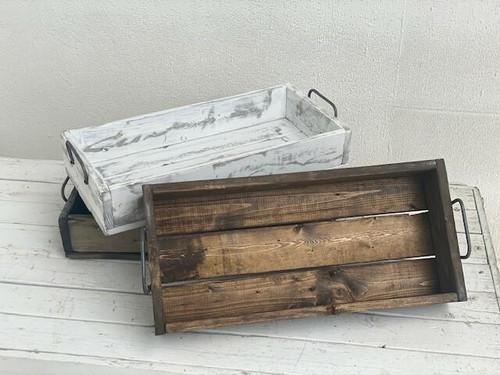 Medium Wood Tray Walnut Wendell August
