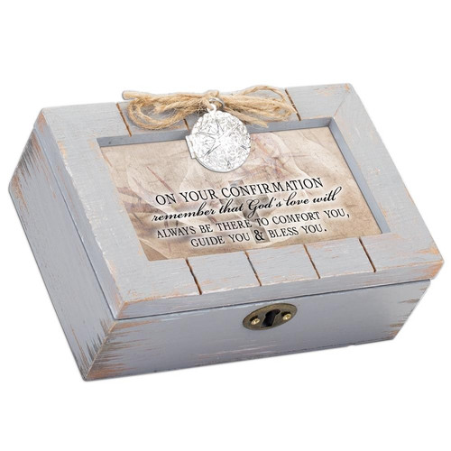 On Your Confirmation Gods Love Musical Keepsake Box Wendell August