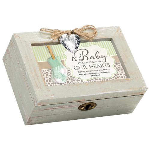 Baby Fills Place in Our Hearts Musical Keepsake Box Wendell August