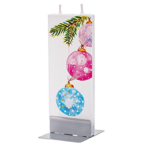 Flat Handmade Candle - Pink Blue Hanging Christmas Ornaments Wendell August
