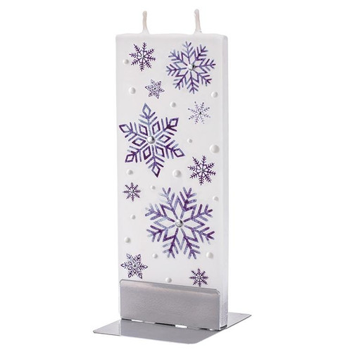 Flat Handmade Candle - Blue Snowflakes Wendell August