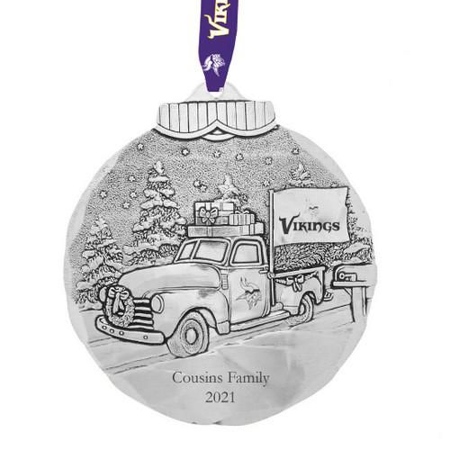 Minnesota Vikings Tailgating Ornament Aluminum Wendell August