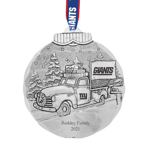 New York Giants Tailgating Ornament Aluminum Wendell August