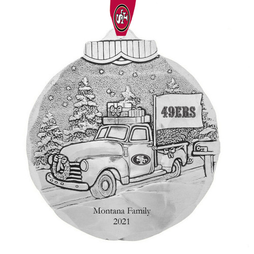 San Francisco 49ers Tailgating Ornament Aluminum Wendell August