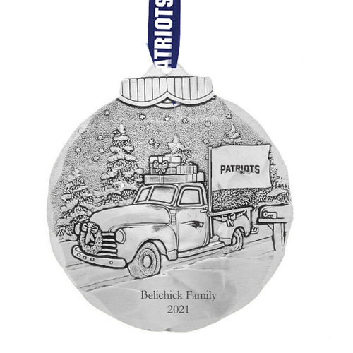 New England Patriots Tailgating Ornament Aluminum Wendell August
